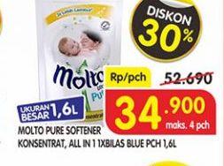 Promo Harga MOLTO MOLTO Pure Softener Konsentrat, All In One Blue 1,6 L  - Superindo