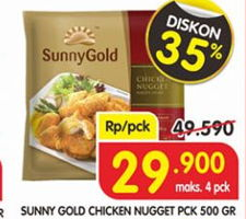 Promo Harga SUNNY GOLD Chicken Nugget 500 gr - Superindo
