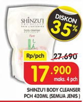 Promo Harga SHINZUI Body Cleanser All Variants 450 ml - Superindo