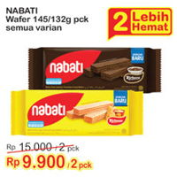 Promo Harga NABATI Richeese/Richoco Wafer All Variants per 2 pouch 145 gr - Indomaret