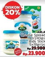 Promo Harga ARLA ARLA Kids Stick 6s/ Cheese Spread 140g/240g  - LotteMart