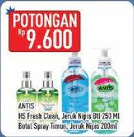 Promo Harga ANTIS ANTIS Hand Sanitizer  - Hypermart