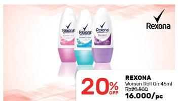 Promo Harga REXONA Women Deo Roll On 50 ml - Guardian