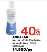Promo Harga ANDALAN Feminine Care Natural White 60 ml - Guardian