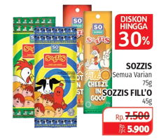 Promo Harga SO GOOD SO GOOD Sozzis 75gr/45gr  - Lotte Grosir