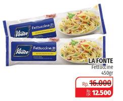 Promo Harga LA FONTE Fettuccine 450 gr - Lotte Grosir