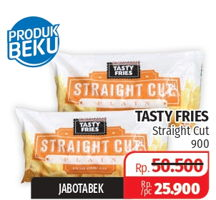 Promo Harga TASTY FRIES Shoestring Straight Cut 900 gr - Lotte Grosir