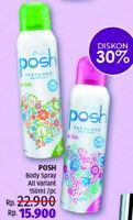 Promo Harga POSH Perfumed Body Spray All Variants 150 ml - LotteMart