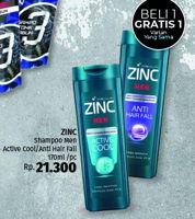 Promo Harga ZINC Men Shampoo 170 ml - LotteMart