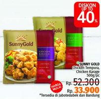 Promo Harga SUNNY GOLD Chicken Tempura / Chicken Karaage 500gr  - LotteMart