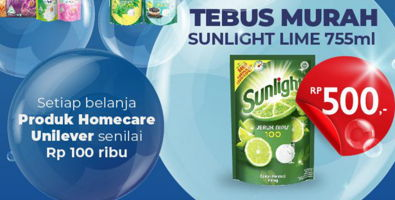 Promo Harga SUNLIGHT Pencuci Piring Jeruk Nipis 100 755 ml - Carrefour