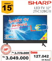 Promo Harga SHARP 2T-C32BG1 | LED TV 32 inch  - Giant