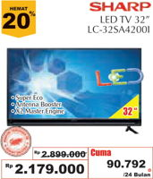 Promo Harga SHARP LC-32SA4200i | LED TV  - Giant
