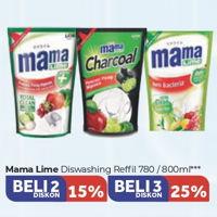 Promo Harga MAMA LIME MAMA LIME Cairan Pencuci Piring 780/800ml  - Carrefour