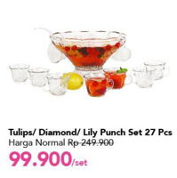 Promo Harga Punch Set Tulips, Diamond, Lily 27 pcs - Carrefour