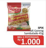 Promo Harga SPIX Mie Goreng Premium Sambal Balado per 2 pcs 45 gr - Alfamidi