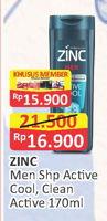 Promo Harga ZINC Men Shampoo 170 ml - Alfamart