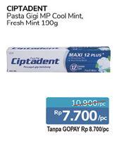 Promo Harga CIPTADENT Pasta Gigi Fresh Mint, Cool Mint 190 gr - Alfamidi
