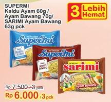 Promo Harga SUPERMI SUPERMI/SARIMI Mi Instant  - Indomaret