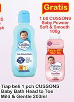 Promo Harga CUSSONS BABY Hair & Body Wash Mild Gentle 200 ml - Indomaret