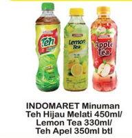 Promo Harga INDOMARET Indomaret Minuman Teh Hijau Melati/ Lemon Tea /Apple Tea  - Indomaret