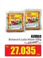 Promo Harga KIMBO Bratwurst Lada Hitam 500 gr - Hari Hari