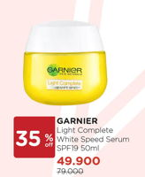 Promo Harga GARNIER Light Complete Serum SPF19 50 ml - Watsons