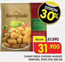 Promo Harga SUNNY GOLD SUNNY GOLD Chicken Nugget/Chicken Tempura/Chicken Stick 500gr  - Superindo