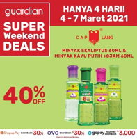 Promo Harga CAP LANG Minyak Kayu Putih 60ml  - Guardian