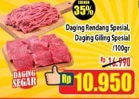 Promo Harga Daging Rendang/ Daging Giling Spesial per 100 gr - Hypermart