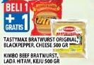 Promo Harga TASTYMAX TASTYMAX Bratwurst Original/Blackpepper/Cheese/KIMBO Bratwurst 500gr  - Hypermart