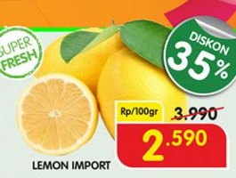 Promo Harga Lemon Import per 100 gr - Superindo