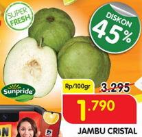 Promo Harga SUNPRIDE Jambu Crystal per 100 gr - Superindo
