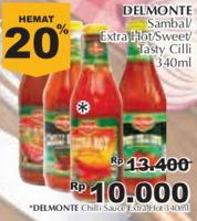 Promo Harga DEL MONTE Sauce Extra Hot Chilli 340 ml - Giant