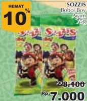 Promo Harga SO GOOD Sozzis Boboi Boy Ayam 75 gr - Giant