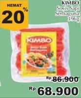 Promo Harga KIMBO Sosis Sapi Serbaguna 396 gr - Giant