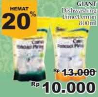 Promo Harga GIANT Pencuci Piring Lemon, Lime 800 ml - Giant