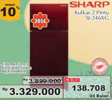 Promo Harga SHARP SJ-246XG  - Giant