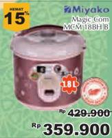 Promo Harga MIYAKO Rice Cooker MCM 18BHB  - Giant