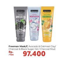 Promo Harga FREEMAN Mask Avocado + Oatmeal, Charcoal + Black Sugar  - Carrefour