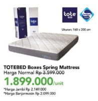 Promo Harga AIRLAND Tote Bed Spring Mattress 160x200cm  - Carrefour