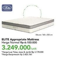 Promo Harga ELITE Appropriate Mattress Queen 160x200cm  - Carrefour