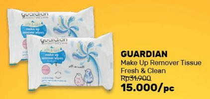 Promo Harga GUARDIAN Make Up Remover  - Guardian
