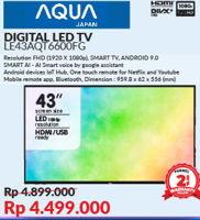 Promo Harga AQUA LE43AQT6600FG   LED TV  - Courts