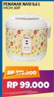 Promo Harga MIYAKO MCM-609   Rice Cooker  - Courts