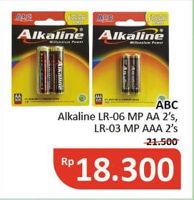 Promo Harga ABC Battery Alkaline Millennium Power LR6/AA, LR03/AAA 2 pcs - Alfamidi