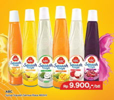 Promo Harga ABC Syrup Squash Delight All Variants 460 ml - TIP TOP