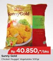 Promo Harga SUNNY GOLD Chicken Nugget Vegetables 500 gr - TIP TOP