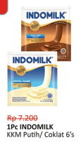 Promo Harga INDOMILK Susu Kental Manis Cokelat, Plain per 6 sachet - Alfamidi
