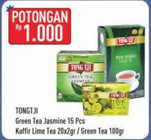 Promo Harga TONG TJI Jasmine 15pcs / Lime Tea 20x2gr / Green Tea 100gr  - Hypermart
